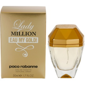 Paco Rabanne Lady Million Eau My Gold toaletna voda za ženske 50 ml