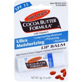 Palmer's Face & Lip Cocoa Butter Formula Balsam de buze hidratant SPF 15 aroma Original Cocoa Butter  4 g