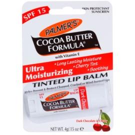 Palmer's Face & Lip Cocoa Butter Formula tónovací hydratační balzám na rty SPF 15 příchuť Dark Chocolate & Cherry  4 g