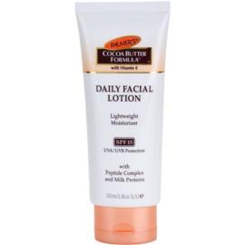 Palmer's Face & Lip Cocoa Butter Formula lehký hydratační krém SPF 15  100 ml