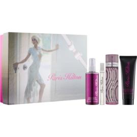 Paris Hilton Paris Hilton darilni set VII.  parfumska voda 100 ml + parfumska voda 10 ml + pršilo za telo 118 ml + bleščeče mleko za telo 90 ml