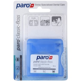 Paro Classic-Floss hilo dental con cera con fluoruro 1766 Mint (Waxed with Mint with Fluoride) 50 m