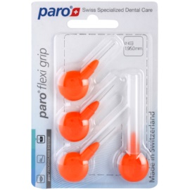 Paro Flexi Grip mezizubní kónické kartáčky 4 ks 1079 Orange X-Fine 1,9/5,0 mm (Soft Rubber for a Non-Slip Grip)