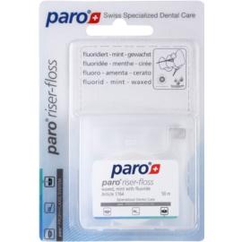 Paro Riser-Floss woskowana nić dentystyczna z delikatnymi włóknami z fluorem 1764 Mint (Waxed with Mint with Fluoride) 50 m