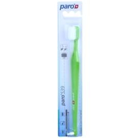 Paro S39 zubní kartáček + jednosvazkový kartáček 2 v 1 soft Light Green