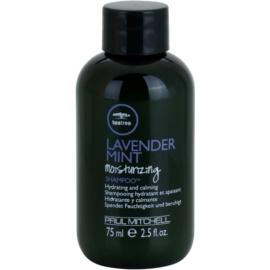 Paul Mitchell Tea Tree Lavender Mint hydratační a zklidňující šampon pro suché a nepoddajné vlasy  75 ml