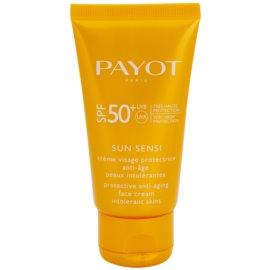 Payot Sun Sensi schützende Gesichtscreme für intolerante Haut gegen Alterserscheinungen SPF 50+  50 ml