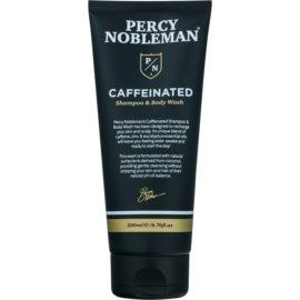 Percy Nobleman Hair σαμπουάν καφεϊνης για άντρες για σώμα και μαλλιά  200 μλ