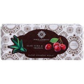 Perlé Cosmetic Premium ručně vyráběné mýdlo aloe vera a třešeň  115 g