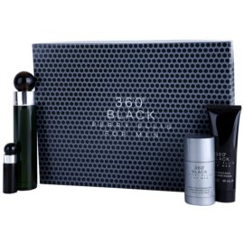 Perry Ellis 360° Black подаръчен комплект I. тоалетна вода 100 ml + тоалетна вода 7,5 ml + балсам след бръснене 90 ml + деостик 78 g