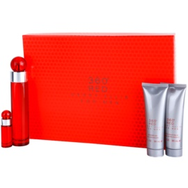 Perry Ellis 360° Red set cadou I. Apa de Toaleta 100 ml + Apa de Toaleta 7,5 ml + After Shave Balsam 90 ml + Gel de dus 90 ml