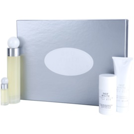 Perry Ellis 360° White Geschenkset I. Eau de Toilette 100 ml + Eau de Toilette 7,5 ml + After Shave Balsam 90 ml + Deo-Stick 78 g