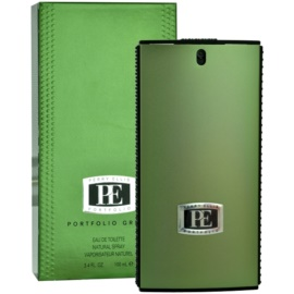 Perry Ellis Portfolio Green Men Eau de Toilette for Men 100 ml