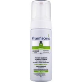 Pharmaceris T-Zone Oily Skin Puri-Sebostatic tisztító hab a pattanások kezelése által kiszárított és irritált bőrre  150 ml