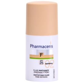 Pharmaceris F-Fluid Foundation matirajoči fluidni tekoči puder SPF 25 odtenek 02 Natural  30 ml