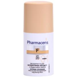 Pharmaceris F-Fluid Foundation maquillaje cubre imperfecciones con efecto de larga duración  SPF 20 tono 01 Ivory  30 ml