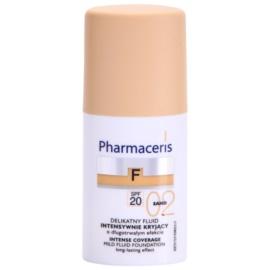 Pharmaceris F-Fluid Foundation maquillaje cubre imperfecciones con efecto de larga duración  SPF 20 tono 02 Sand  30 ml
