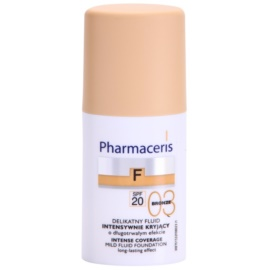 Pharmaceris F-Fluid Foundation intenzivně krycí make-up s dlouhotrvajícím efektem SPF 20 odstín 03 Bronze  30 ml