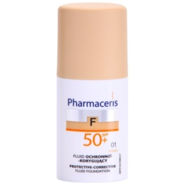 Pharmaceris F-Fluid Foundation ochranný krycí make-up SPF 50+ odstín 01 Ivory  30 ml