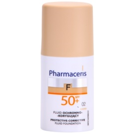 Pharmaceris F-Fluid Foundation ochranný krycí make-up SPF 50+ odstín 02 Sand  30 ml