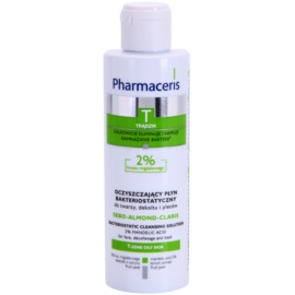 Pharmaceris T-Zone Oily Skin Sebo-Almond-Claris antibakteriální čisticí voda na obličej, dekolt a záda pro problematickou pleť  190 ml