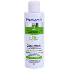 Pharmaceris T-Zone Oily Skin Sebo-Almond-Claris oczyszczający płyn bakteriostatyczny do twarzy, dekoltu i pleców do skóry problemowej  190 ml