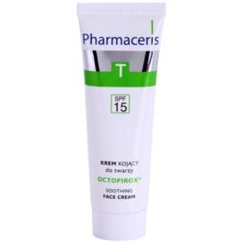 Pharmaceris T-Zone Oily Skin Octopirox crema calmante de día antirojeces  para pieles grasas y problemáticas SPF 15 30 ml