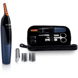 Philips Nose Trimmer NT5180/15 trymer do nosa + etui podróżne i zestaw do manicure
