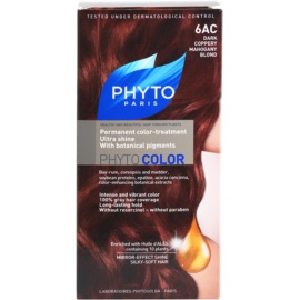 Phyto Color coloração de cabelo tom 6AC Dark Coppery Mahogany Blond
