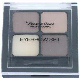 Pierre René Eyes Eyebrow paletka do brwi odcień 01 Brown 4,5 g