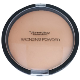 Pierre René Face bronzující pudr pro dlouhotrvající efekt odstín 02 Medium Bronze 15 g