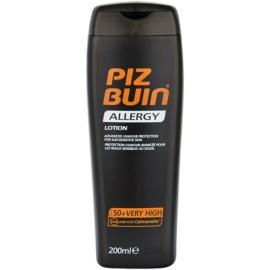 Piz Buin Allergy leite bronzeador SPF 50+   200 ml