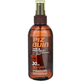 Piz Buin Tan & Protect ulei protector pentru accelerarea bronzului SPF 30  150 ml