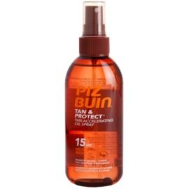 Piz Buin Tan & Protect ulei protector pentru accelerarea bronzului SPF 15  150 ml