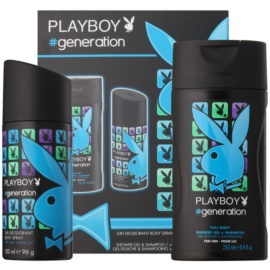 Playboy Generation dárková sada V.  deodorant ve spreji 150 ml + sprchový gel 250 ml