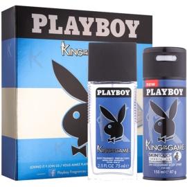 Playboy King Of The Game dárková sada I.  deodorant s rozprašovačem 75 ml + deodorant ve spreji 150 ml