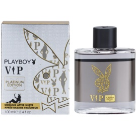 Playboy VIP Platinum Edition Aftershave lotion  voor Mannen 100 ml