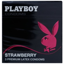 Playboy Strawberry kondómy s vôňou jahôd  3 ks