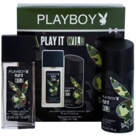 Playboy Play it Wild darčeková sada II.  dezodorant s rozpračovačom 75 ml + deodorant v spreji 150 ml