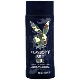 Playboy Play it Wild tusfürdő férfiaknak 400 ml