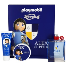 Playmobil Super4 Alex zestaw upominkowy I. woda toaletowa 100 ml + żel do włosów 50 ml + żel pod prysznic 50 ml