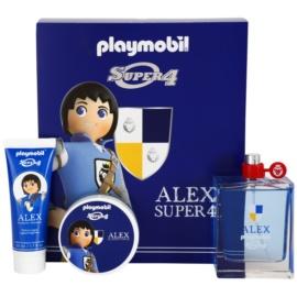 Playmobil Super4 Alex Geschenkset I. Eau de Toilette 100 ml + Haargel 50 ml + Duschgel 50 ml