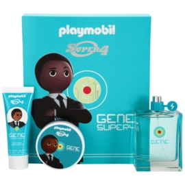 Playmobil Super4 Gene coffret I. Eau de Toilette 100 ml + gel para cabelo 50 ml + gel de duche 50 ml