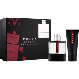Prada Luna Rossa Carbon Gift Set I.  Eau De Toilette 100 ml + Shower Gel 100 ml