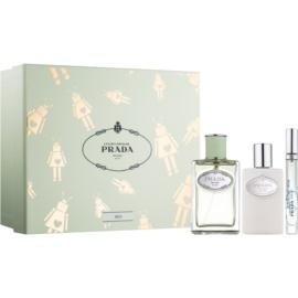 Prada Les Infusions Infusion d'Iris darilni set XI. parfumska voda 100 ml + losjon za telo 100 ml + parfumska voda 10 ml