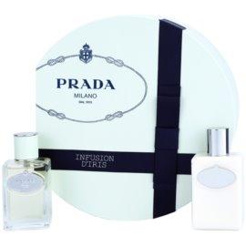 Prada Infusion d'Iris подаръчен комплект III. парфюмна вода 50 ml + мляко за тяло 100 ml