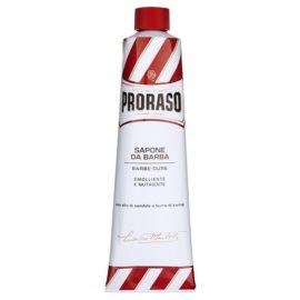 Proraso Red mýdlo na holení pro tvrdé vousy v tubě  150 ml