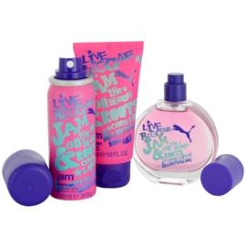 Puma Jam Woman lote de regalo I.  eau de toilette 40 ml + gel de ducha 50 ml + desodorante en spray 50 ml