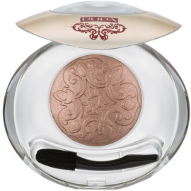 Pupa Red Queen metalické oční stíny odstín 004 Luxurious Brown 2 g