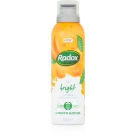 Radox Feel Bright negovalna pena za prhanje Mango & Mandarin Scent 200 ml